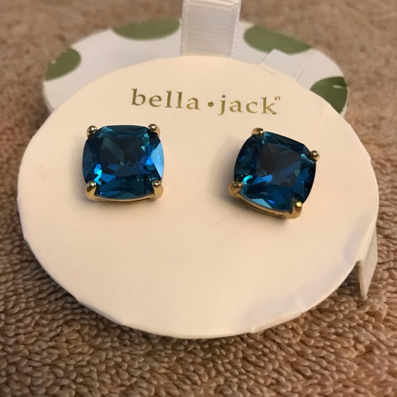 bella•jack Jewelry - Bella Jack stunning BLUE earrings